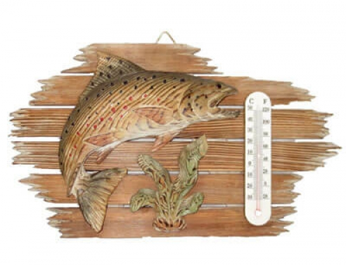 Handcrafted wooden fish wall decoraiton