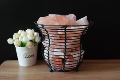 Himalayan Natural Salt Basket Lamp