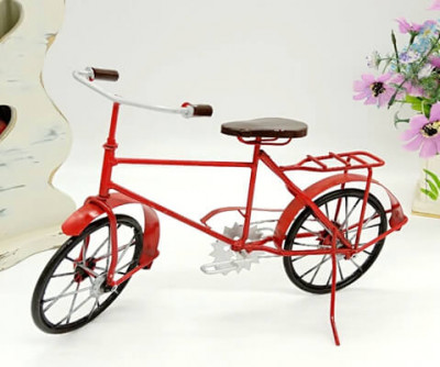 Metal Red Bike Wall Art