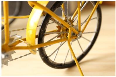 Metal Red Bike detail