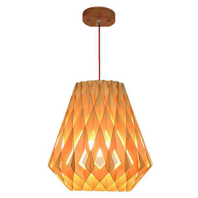Modern wood pendant lamp