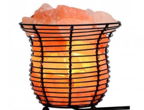Himalayan Salt Basket Lamps