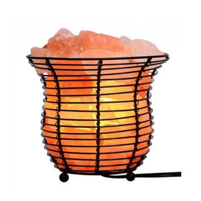Natural Salt Basket Lamp