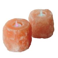 Natural himalayan salt candle holder