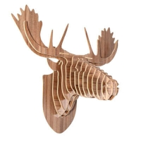 Plywood moose head