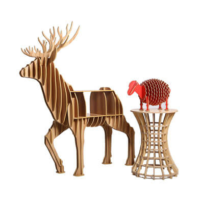 Plywood reindeer craft art furniture