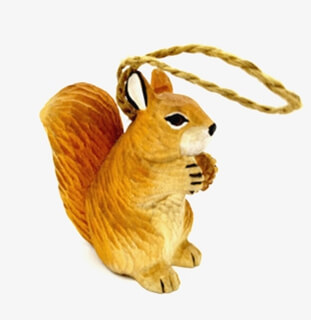 hand carved Wood Squirrel