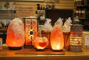 handcrafted salt lamp