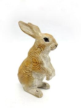 pine wood brown rabbits