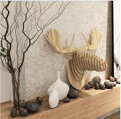 plywood animal head