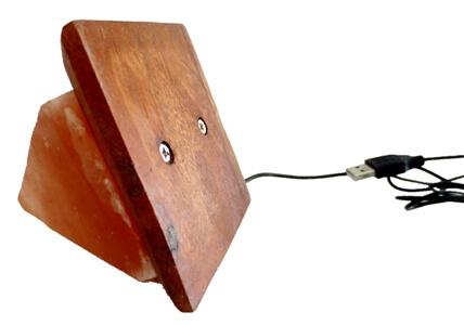 triangle salt lamp base