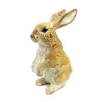 wooden brown rabbit