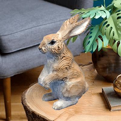 wooden rabbit