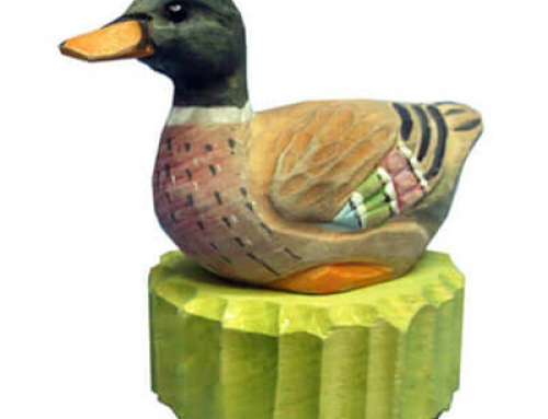 Wood duck pencil sharpener