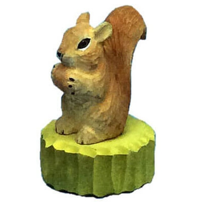 Wood squirrel pencil sharpener