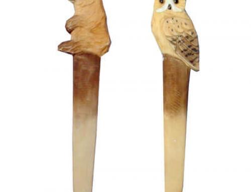 Wooden animals bookmark