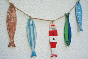 wooden fish art