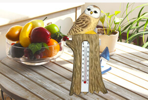 wooden indoor thermometer