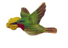 wooden magnet bird