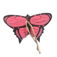 Hand caved wooden butterfly decoration