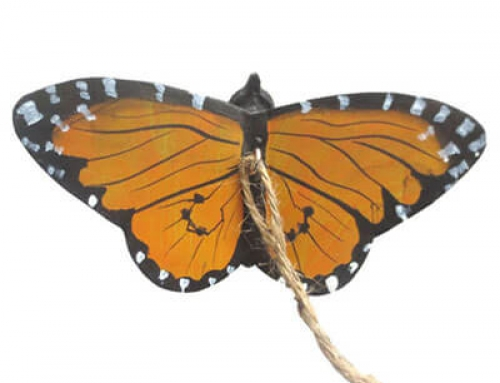 Handcrafted wooden butterfly decoration