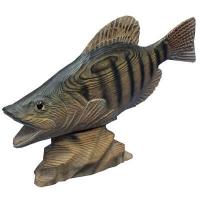 Handmade wooden marine fish decor