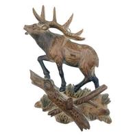 Wood reindeer hook