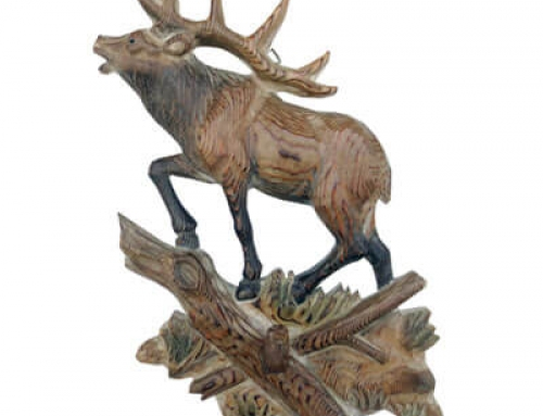 Wood reindeer hook