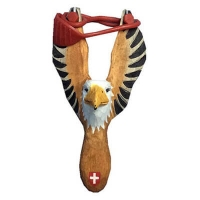 Wooden eagle slingshot