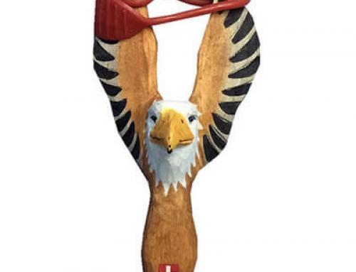 Wooden eagle slingshot