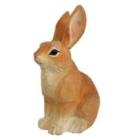 Wooden handicrafts brown rabbit