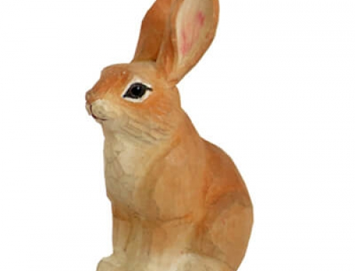 Wooden handicrafts brown rabbit
