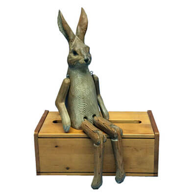 Wooden Rabbit Shelf Sitter Ewoodarts Handicrafts