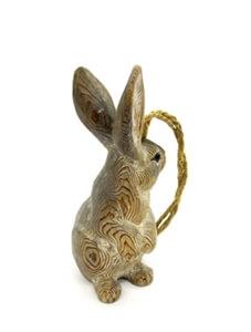 pine wood grey bunny