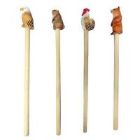 wood animal pencil