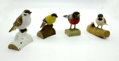 wood birds carving