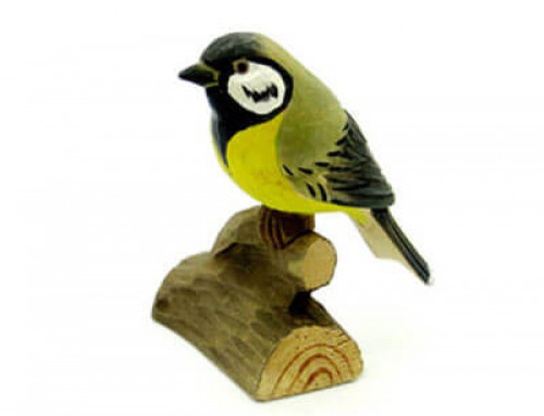 wood carving birds Great Tit