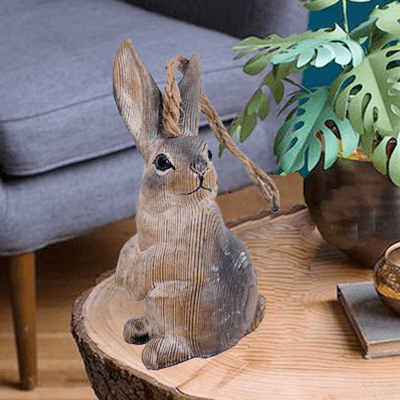 wood grey rabbit_