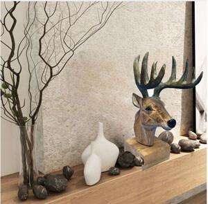 wood moose head