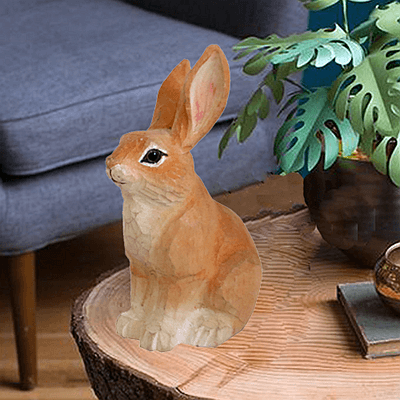 wood rabbit brown