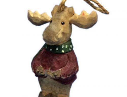 Wood xmas decoration moose