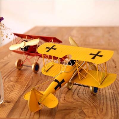 Antique airplane decor