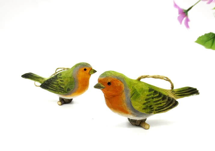 Wooden Robin Birds