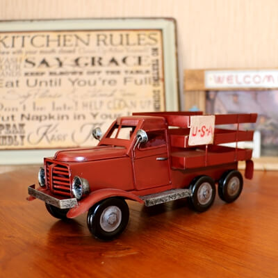 red iron truck
