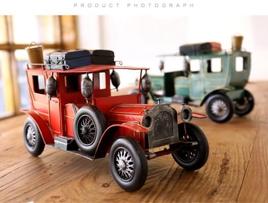 Classic retro iron metal car model decoration (3)