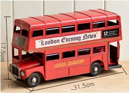 Handmade Classic London Street Bus size