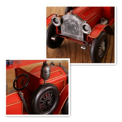 Home Furnishing tin vintage car models nostalgic gift decoration room