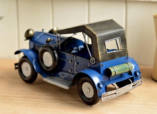 blue metal car