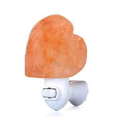 Heart-Shaped Night Light Himalayan Rock Salt Lamp Wall Lamp