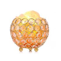 Himalayan Natural Crystal Round Ball Shape Night Lamps